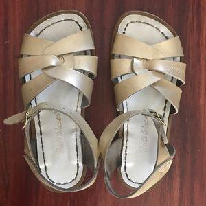 Girls gold saltwater sandals